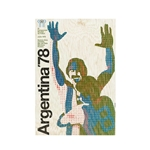 1978 FIFA World Cup Argentina Poster Bamboo Wood Print