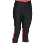Under Armour HeatGear Alpha Novelty Women's Capri Pant (Blk/Orange)