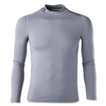 Under Armour Youth ColdGear EVO Fitted Long Sleeve Mock (Gray)