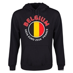 Belgium Euro 2016 Fashion Youth Hoody (Black)