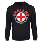 England Euro 2016 Fashion Youth Hoody (Black)