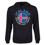 Iceland Euro 2016 Fashion Youth Hoody (Black)