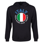 Italy Euro 2016 Fashion Youth Hoody (Black)
