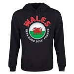 Wales Euro 2016 Fashion Youth Hoody (Black)