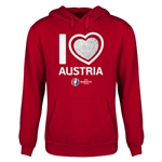 Austria Euro 2016 Heart Youth Hoody (Red)