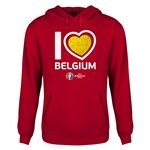 Belgium Euro 2016 Heart Youth Hoody (Red)