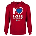 Czech Republic Euro 2016 Heart Youth Hoody (Red)