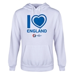 England Euro 2016 Heart Youth Hoody (White)