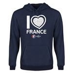 France Euro 2016 Heart Youth Hoody (Navy)