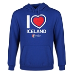 Iceland Euro 2016 Heart Youth Hoody (Royal)