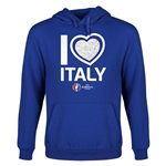 Italy Euro 2016 Heart Youth Hoody (Royal)