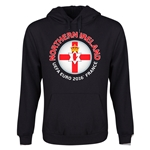 Northern Ireland Euro 2016 Fashion Youth Hoody (Black)