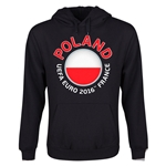 Poland Euro 2016 Fashion Youth Hoody (Black)