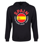 Spain Euro 2016 Fashion Youth Hoody (Black)