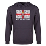 Northern Ireland Euro 2016 Fashion Flag Youth Hoody (Dark Grey)