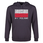 Poland Euro 2016 Fashion Flag Youth Hoody (Dark Grey)