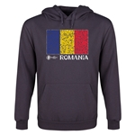 Romania Euro 2016 Fashion Flag Youth Hoody (Dark Grey)