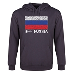 Russia Euro 2016 Fashion Flag Youth Hoody (Dark Grey)