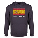 Spain Euro 2016 Fashion Flag Youth Hoody (Dark Grey)