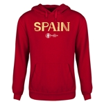Spain Euro 2016 Core Youth Hoody (Red)