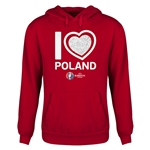 Poland Euro 2016 Heart Youth Hoody (Red)