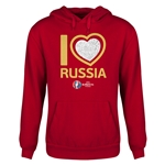Russia Euro 2016 Heart Youth Hoody (Red)