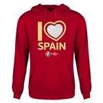 Spain Euro 2016 Heart Youth Hoody (Red)