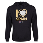 Spain Euro 2016 Heart Youth Hoody (Black)