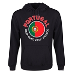 Portugal Euro 2016 Fashion Youth Hoody (Black)