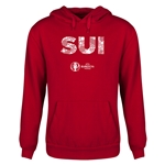 Switzerland Euro 2016 Elements Youth Hoody (Red)