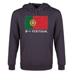 Portugal Euro 2016 Fashion Flag Youth Hoody (Dark Grey)