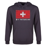 Switzerland Euro 2016 Fashion Flag Youth Hoody (Dark Grey)