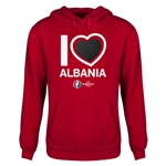 Albania Euro 2016 Heart Youth Hoody (Red)