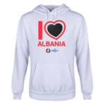 Albania Euro 2016 Heart Youth Hoody (White)