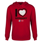 Germany Euro 2016 Heart Youth Hoody (Red)