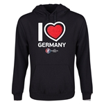 Germany Euro 2016 Heart Youth Hoody (Black)