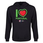 Portugal Euro 2016 Heart Youth Hoody (Black)
