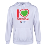 Portugal Euro 2016 Heart Youth Hoody (White)