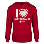 Switzerland Euro 2016 Heart Youth Hoody (Red)