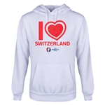 Switzerland Euro 2016 Heart Youth Hoody (White)