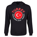 Turkey Euro 2016 Fashion Youth Hoody (Black)