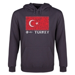 Turkey Euro 2016 Fashion Flag Youth Hoody (Dark Grey)