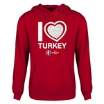 Turkey Euro 2016 Heart Youth Hoody (Red)