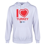Turkey Euro 2016 Heart Youth Hoody (White)