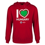 Hungary Euro 2016 Heart Youth Hoody (Red)