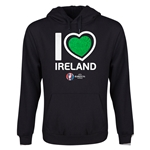 Ireland Euro 2016 Heart Youth Hoody (Black)