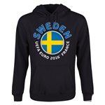 Sweden Euro 2016 Fashion Youth Hoody (Black)