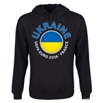 Ukraine Euro 2016 Fashion Youth Hoody (Black)
