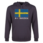 Sweden Euro 2016 Fashion Flag Youth Hoody (Dark Grey)