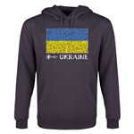 Ukraine Euro 2016 Fashion Flag Youth Hoody (Dark Grey)